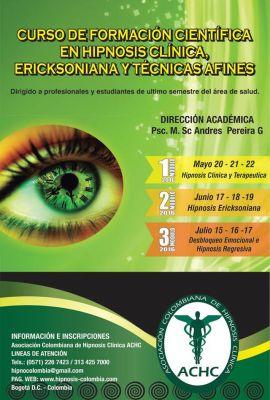 Curso de Formación Científica en Hipnosis Clínica, Ericksoniana y Técnicas Afines